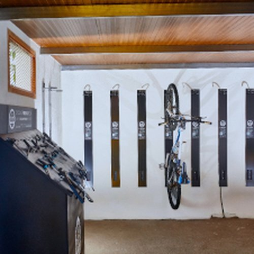 Cycling center with bike hangers and security cable locks coral teide mar hotel puerto de la cruz